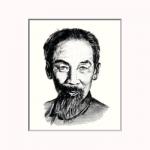 hochiminh(ホーチミン)を墨で描いた作品