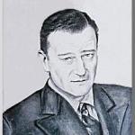 John Wayne(ジョンウェイン)を墨で描いた作品