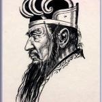 諸葛亮 孔明(しょかつりょうこうめい)中国人物画 墨画