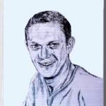 Steve  Mcqueen(ステーィーブ マックウィーン)を墨で描いた作品