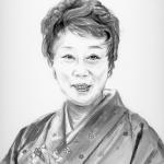 山田 五十鈴(やまだ いすず)を墨で描いた作品