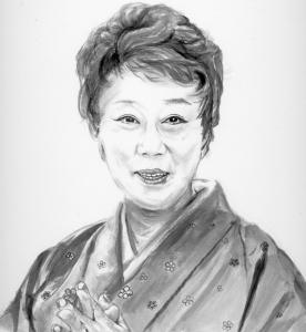 山田 五十鈴(やまだ いすず)日本の女優 墨画