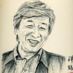 筑紫 哲也(ちくし てつや)の似顔を描いた作品