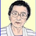 ラジオパーソナリティ秋山 ちえ子(あきやま ちえこ)さんの似顔絵