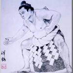 大相撲横綱千代の富士を描いた作品
