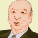 海老沢 勝二(えびさわかつじ)の似顔絵