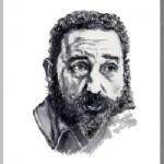 Fidel Alejandro Castro Ruz(カストロ・ルス)を墨で描いた作品