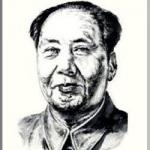 毛沢東を墨で描いた作品
