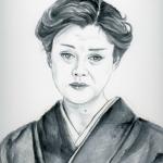 岡田 茉莉子(おかだまりこ)の静謐な表情を描いた作品