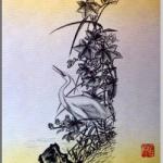 白鷺(しらさぎ)を描いた作品