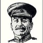 Iosif Vissarionovich Stalin (スターリン)を墨で描いた作品