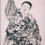 水戸泉(みといずみ)大相撲力士を描いた作品