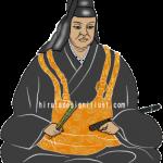 安国寺恵瓊(あんこくじえけい)をイラストで描いた作品