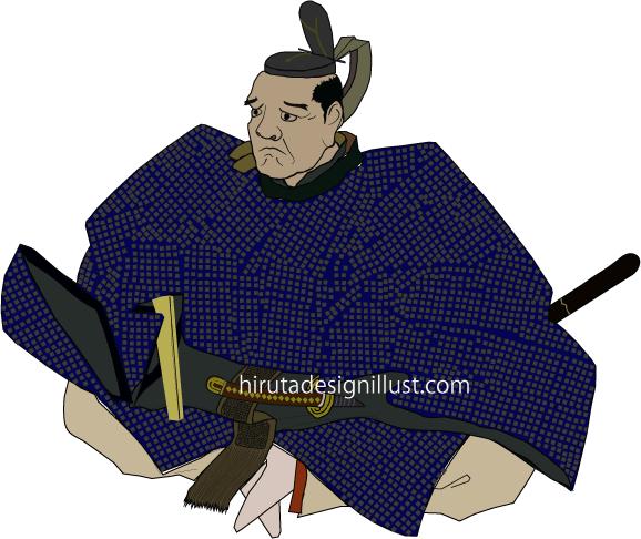 黒田長政をイラストで描いた作品です